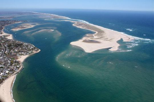 Aerial view of the ocean at Chatham, Cape Cod (stock image). Credit: © Christopher Seufert / Adobe Stock